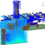 Dispersion of hydrogen inside a process building