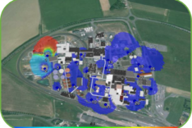 Real time source detection and dispersion forecast